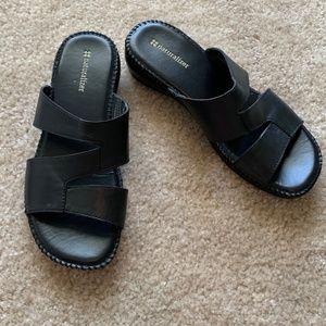Naturalizer Wiser Black Leather Sandal ~ Size 8M
